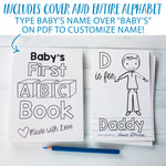 "ABC Book Printable PDF Download with Family Pack | 8.5x11"" Final Size"