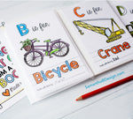 "ABC Book Transportation Things that Go - Printable PDF Download | 4x6"" Final Size"