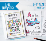 ABC Book Transportation Things that Go - Printed | 4x6""