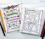 Printable Advent Calendar for Kids, Christmas Coloring Countdown and Keepsake, Personalized Journal
