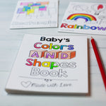 "Baby's First Colors and Shapes Book Printable PDF Download | 4x6"" Final Size"