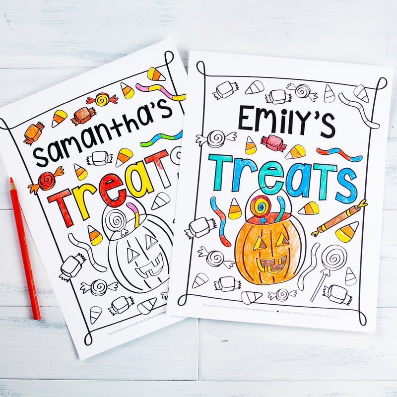 Halloween Printable Kids Activity and Coloring Page Bundle