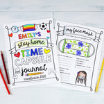 "Kid's Stay Home Quarantine Journal  | PDF Download | 8.5x11"" Final Size"