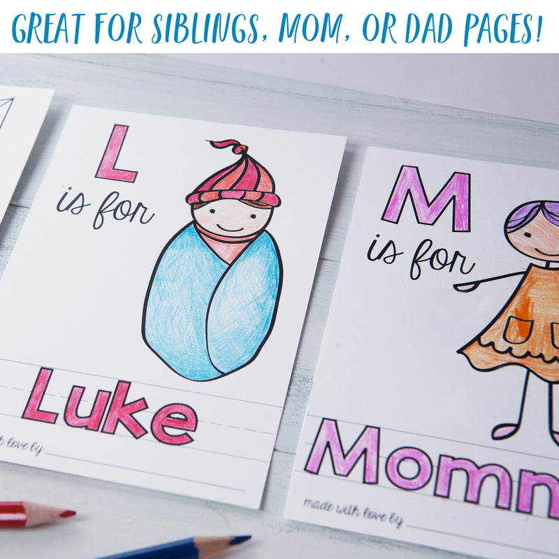 Personalized ABC Page for Baby's First ABC Book | PDF Download