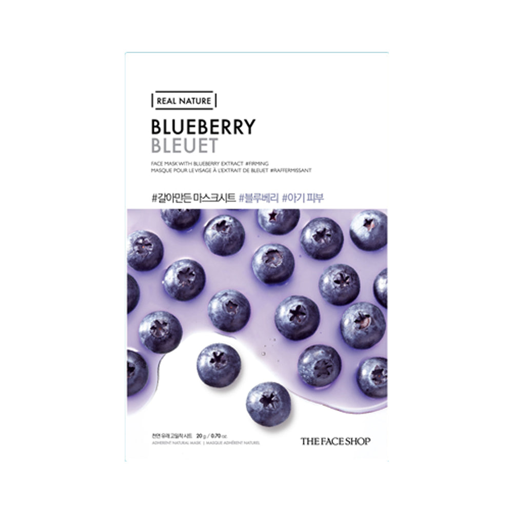 Real Nature Mask Sheet Blueberry