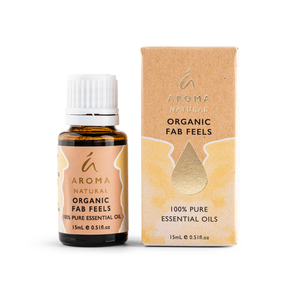 Aroma Natural Organic Fab Feels Essential Oil Blend 15mL