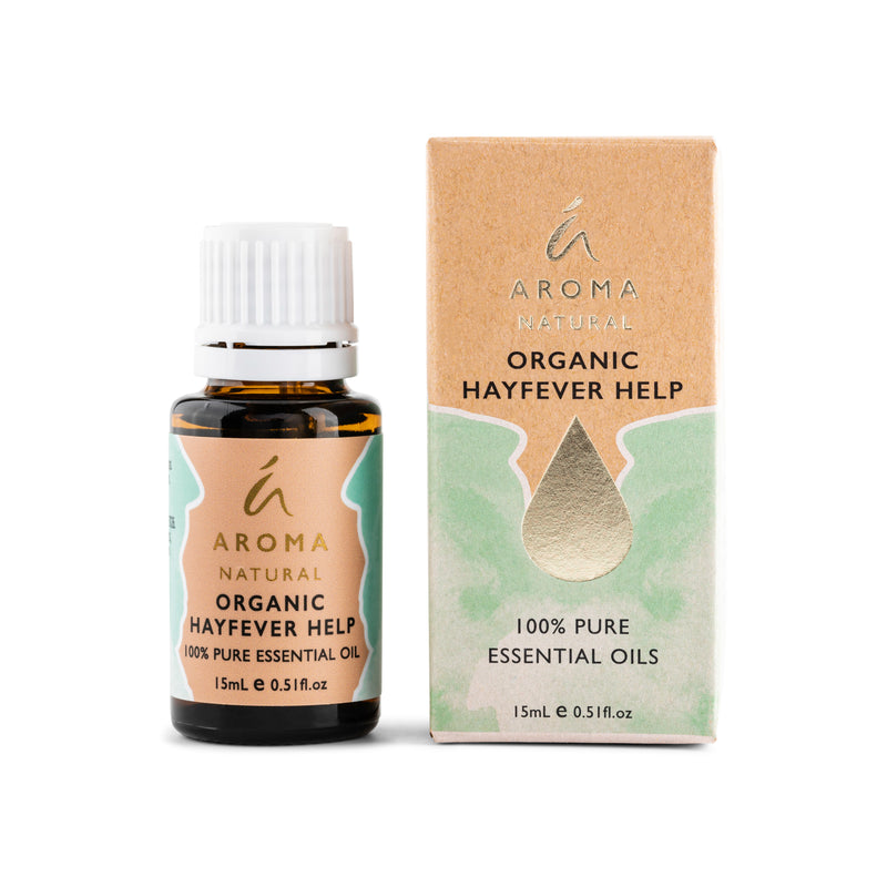 Aroma Natural Organic Hayfever Help Essential Oil Blend 15mL
