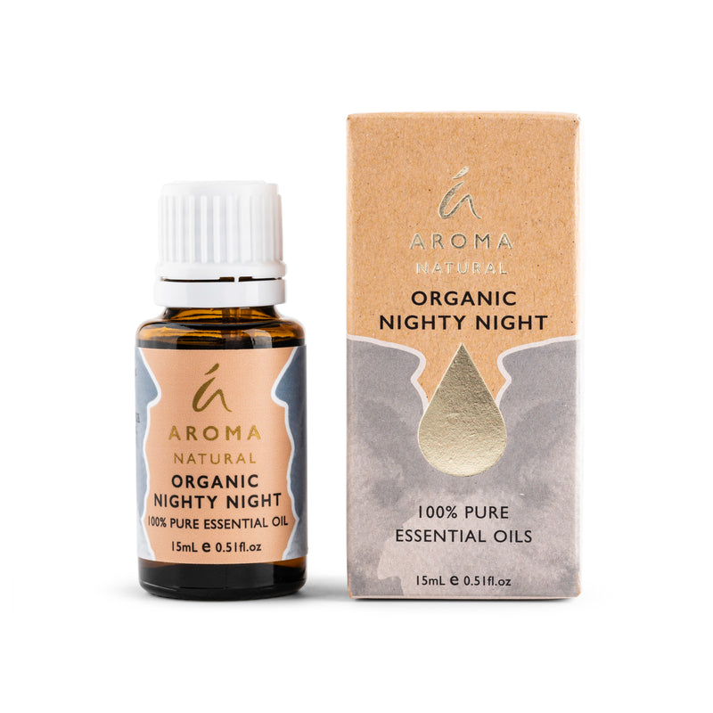 Aroma Natural Organic Nighty Night Essential Oil Blend 15mL