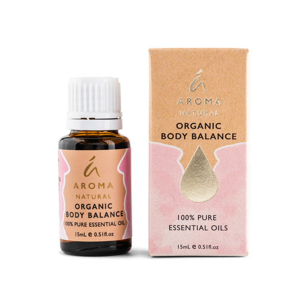 Aroma Natural Organic Body Balance Essential Oil Blend 15mL