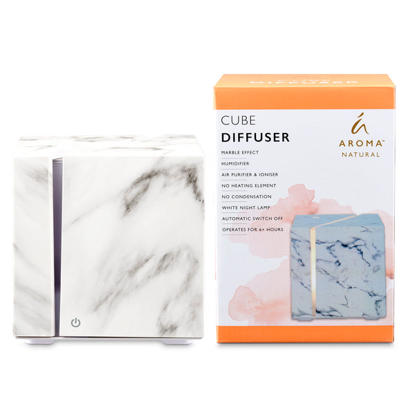 Cube Marble Effect Diffuser - White
