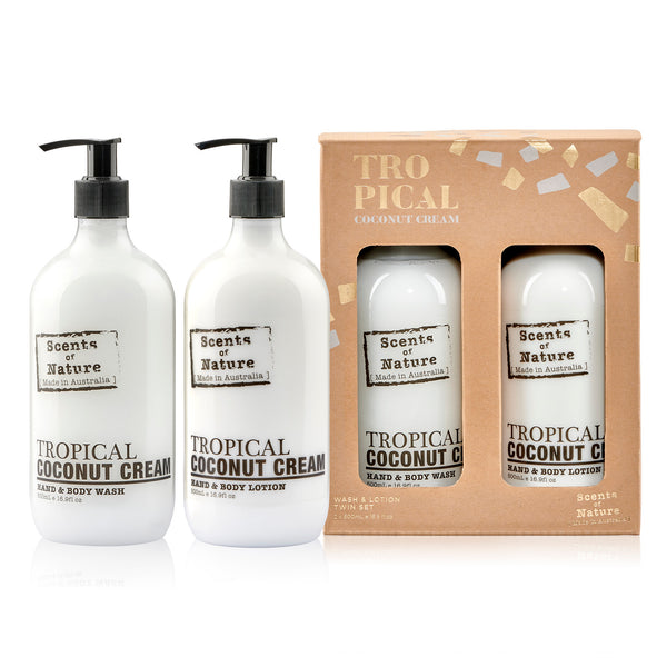 Tropical Coconut Cream  Wash & Lotion Duet 2x 500mL