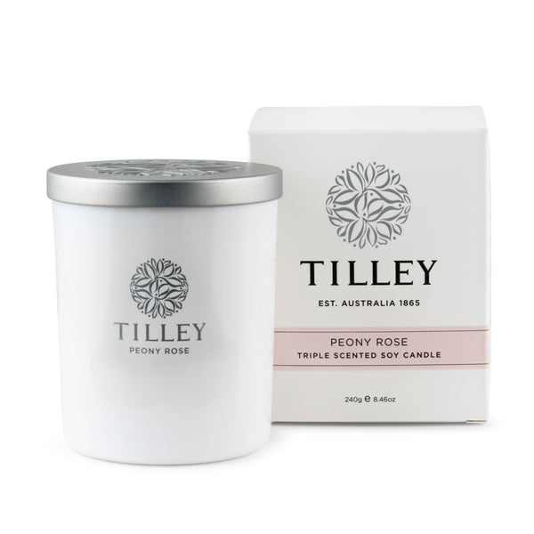 Peony Rose Soy Candle 240g / 45 Hour