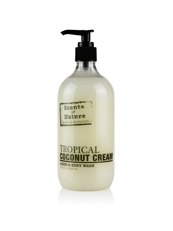 Tropical Coconut Cream Hand & Body Wash 500mL