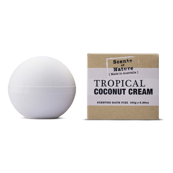 Scents of Nature Bath Fizz Tropical Coconut Cream 150g