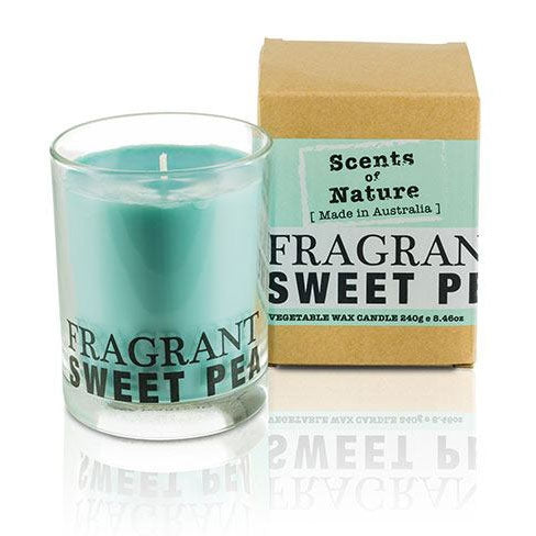 Fragrant Sweet Pea Soy Candle 240g