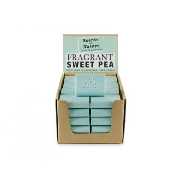 5 x Fragrant Sweet Pea Soap Bar 100g