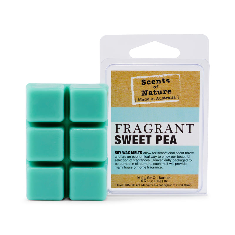 Fragrant Sweet Pea Square Soy Wax Melts 60g