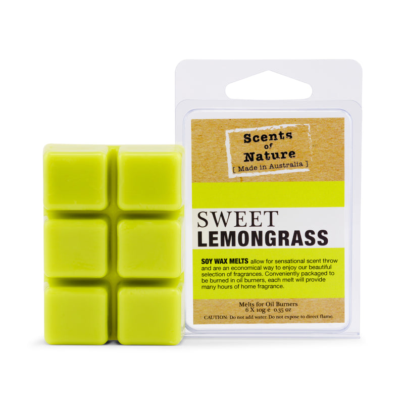 Sweet Lemongrass Square Soy Wax Melts 60g