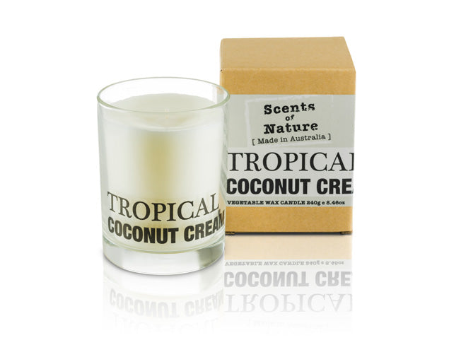 Tropical Coconut Cream Soy Candle 240g
