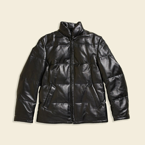 Lambskin Down-filled Leather Jacket