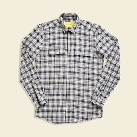 Grey Plaid Uni Shirt