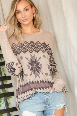 Snowflake Long Sleeve Top