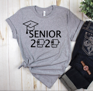 Seniors 2020 Heather Grey Graphic Tee