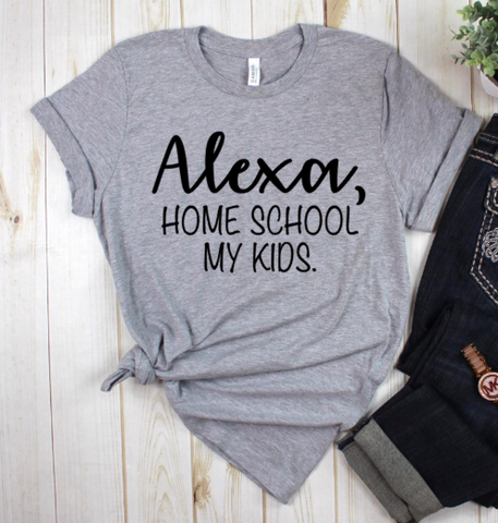 Alexa Home School My Kids Heather Grey Graphic Tee