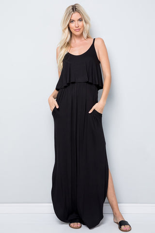 Solid Maxi Sundress