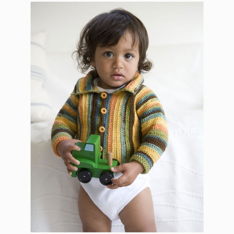 Baby Sideways Crochet Cardigan Kit PRE-ORDER
