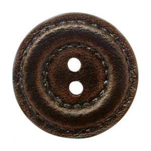 Buttons: Leather-look 2 Hole 18mm