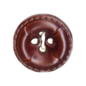 Buttons: Leather-look  4 Hole 18mm