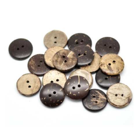 Buttons: Coconut Round 2 Holes Natural 20mm