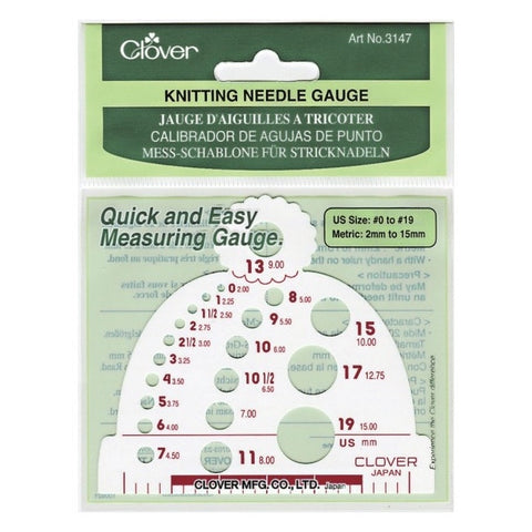3147 Clover Knitting Needle Gauge