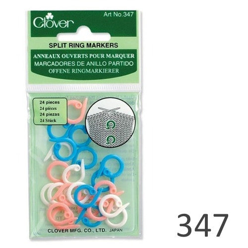 347 Clover Split Ring Stitch Markers