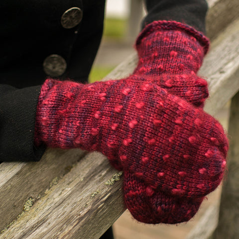 Fleece Artist Classic Thrum Mitts Kit