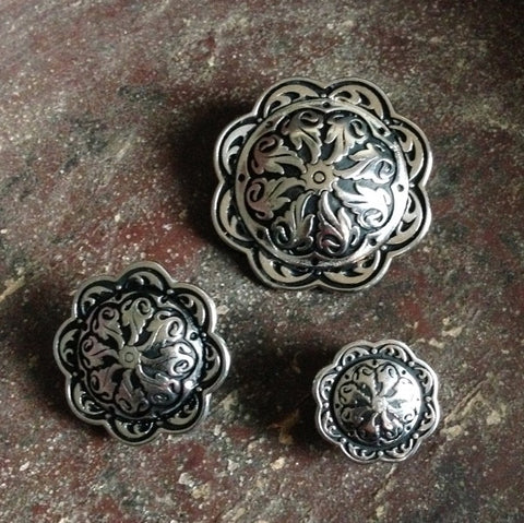 JUL Designs Floral Relief Pedestal Buttons CLEARANCE