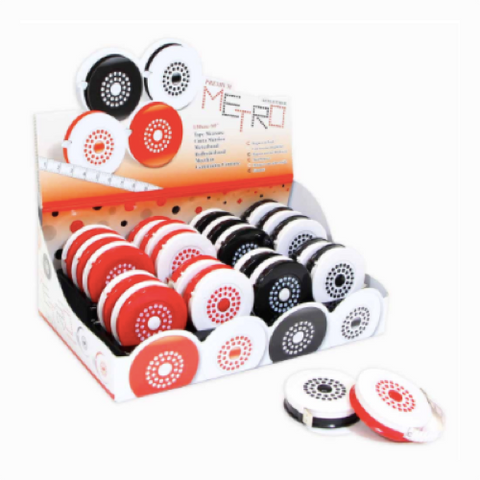 Metro Polkadot Retractable Tape Measure