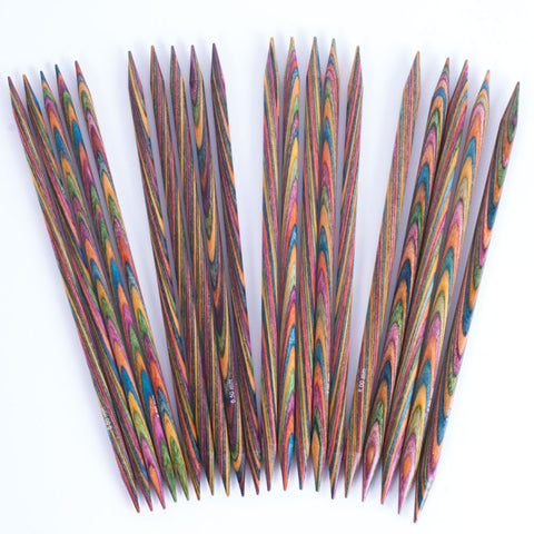 Knit Picks Double Pointed Needles: Rainbow, Caspian & Nickel