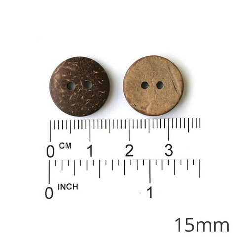 Buttons Round Coconut 2 Holes