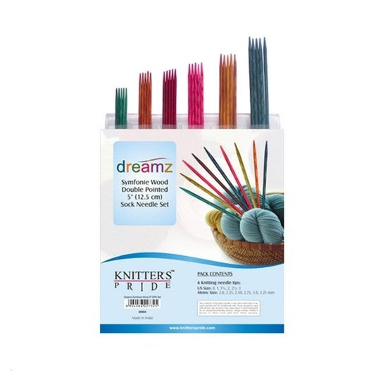 Knitters Pride Double Pointed Needle Sets (Sock Kits) Symphonie WOOD