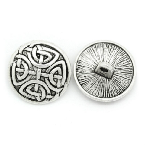 Buttons: Metal Round Shank Celtic Knot 17mm