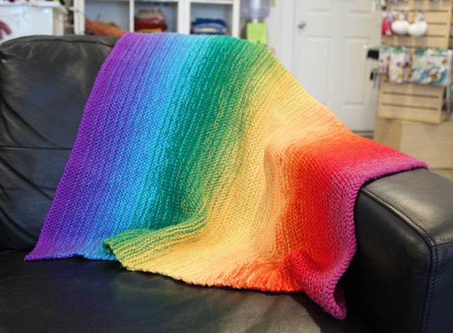 Ombre Baby Blanket Pattern Free Knit O Matic