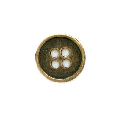 Buttons: Metal Round 4 Holes Antique Bronze 13mm