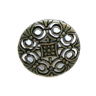 Buttons: Metal Round Shank Spanish Scrolls 18mm