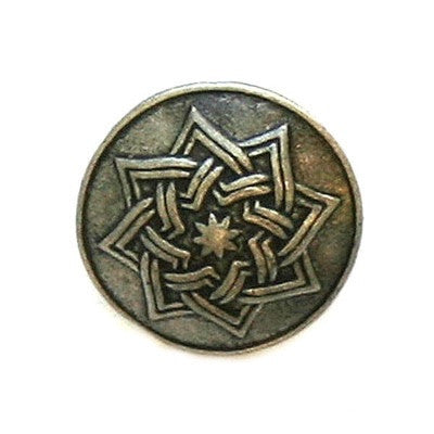Buttons: Metal Round Shank Celtic Star 20mm