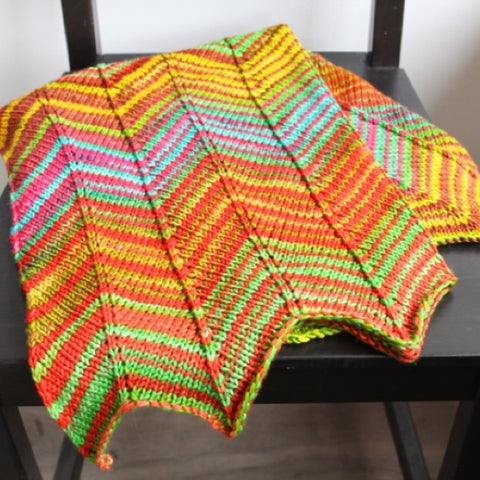 Chevron Baby Blanket Project
