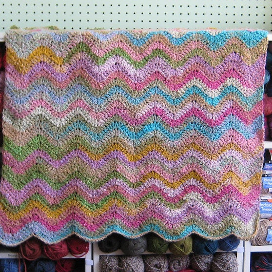 Simple Crochet Ripple Baby Blanket Pattern Free Knit O Matic