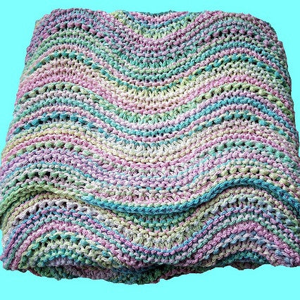 Wavy Baby Blanket Pattern Free Knit O Matic