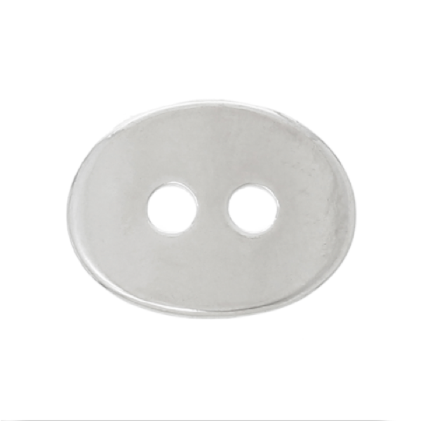 Buttons: Metal Oval 2 Hole 14mm x 6mm